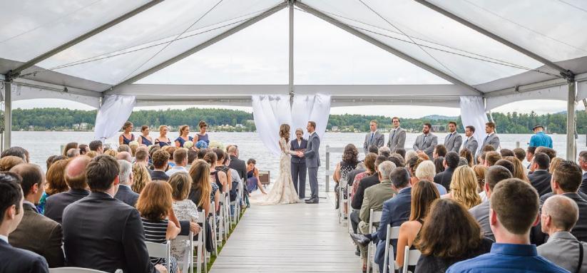 30' JumboTrac Frame Wedding Lakefront Rental