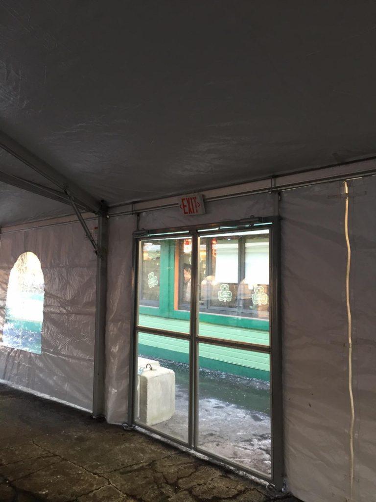 tent door on a 40 wide tent