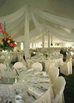 Wedding Party White Tent Rental