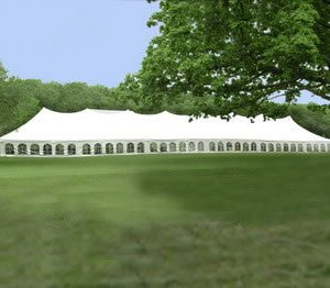 40 x 180 Wedding Pole Tent Rental