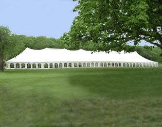 40 x 180 Wedding Pole Tent Rental