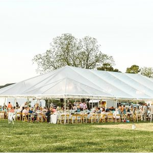 40 x 80 Clear Top Frame Tent Rental Wedding Event Planning Service