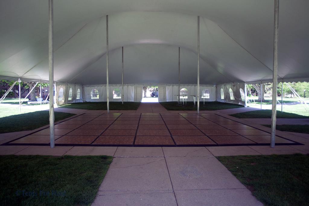 60ft Wide Pole Tent Dance Floor