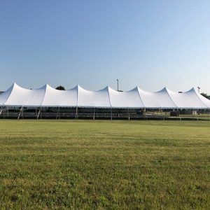 40 x 160 White Top Event Pole Tent Rental
