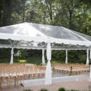 40x60 Clear Top Wedding Tent Event Rental Service