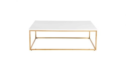Gold Teresa Coffee Table Rental Event Service Wedding Baby Shower