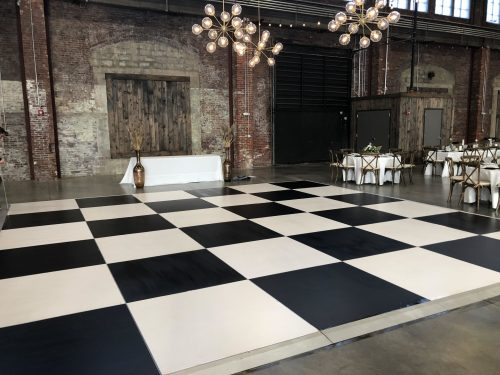 12x12 Checkerboard Dance Floor Rental