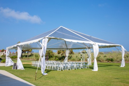 40 x 40 Clear Top Event Tent Wedding Rental Service