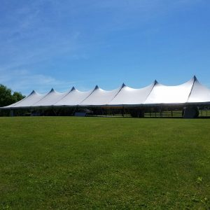 40 x 140 White Canopy Tent Rental Concert, Baby Shower, Weddings