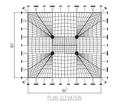 80x90 Pole Tent Plan