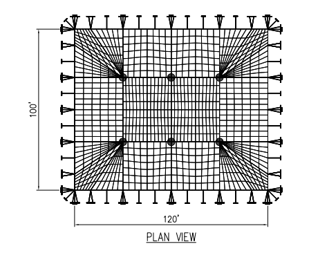 100x120 Pole Tent Plan Above