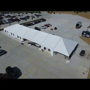 40 x 140 Frame Tent Rental Drone Shot