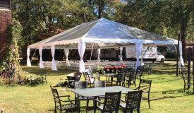 40 x 40 Clear Top Event Frame Tent Rental