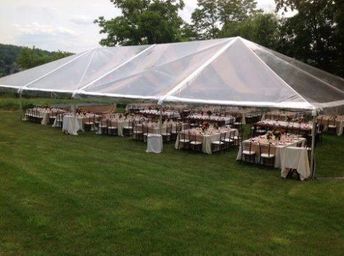 Clear Canopy Wedding Event Tent With Lighting Banquet