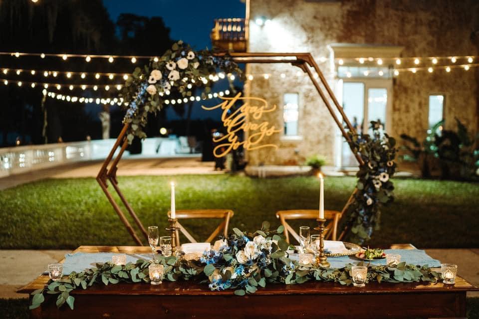 Outdoor Wedding Night