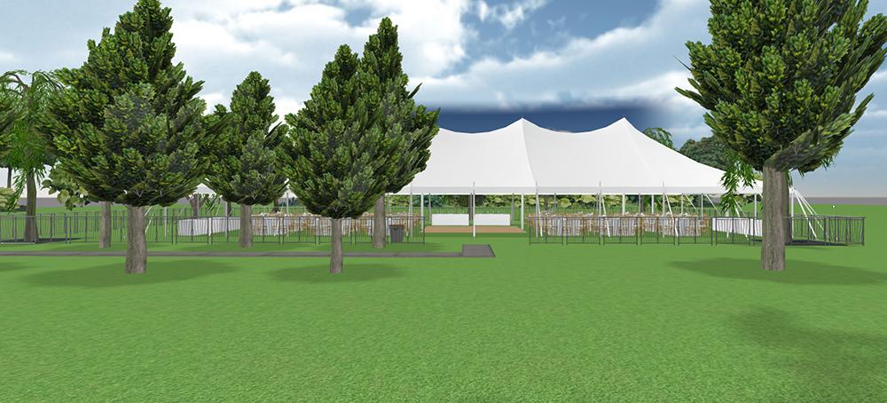 40x100 Pole Tent Layout