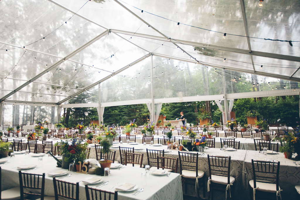 Clear Top Tent Wedding