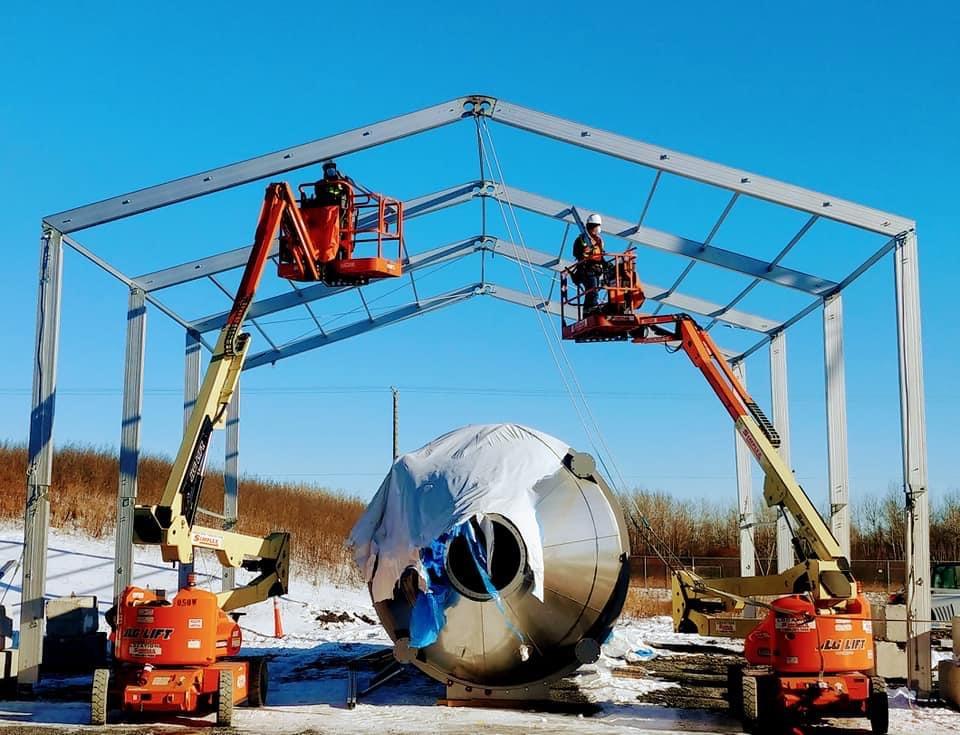 Structure Tent Setup winter