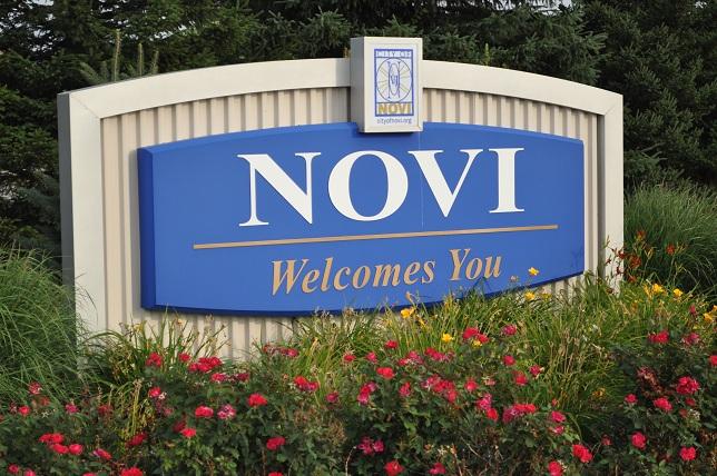 Novi Welcome Sign