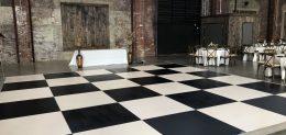 Black and White Dance Floor Rental