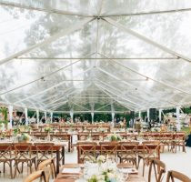 Clear Top Tent Table Chairs
